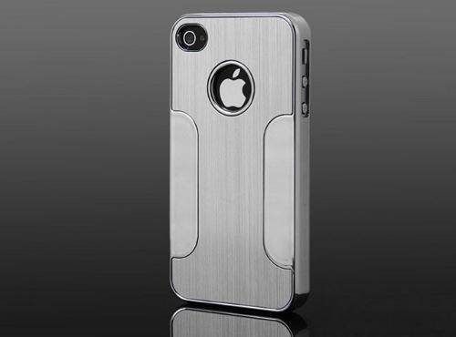 Premium Chrome Aluminum Skin Hard Back Case
