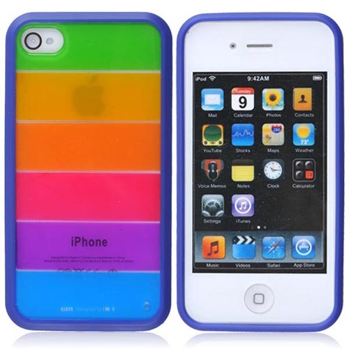 Rainbow Protective Case for iPhone 4/4S