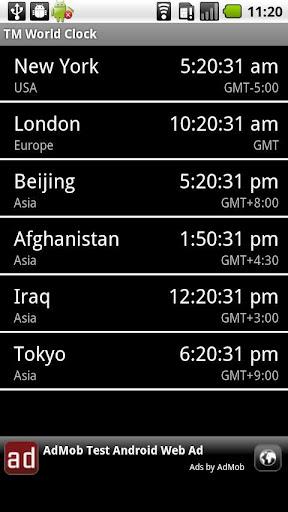 TM World Clock & Widget