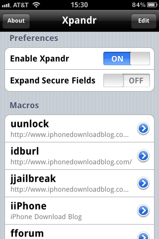 Xpandr for iOS 5