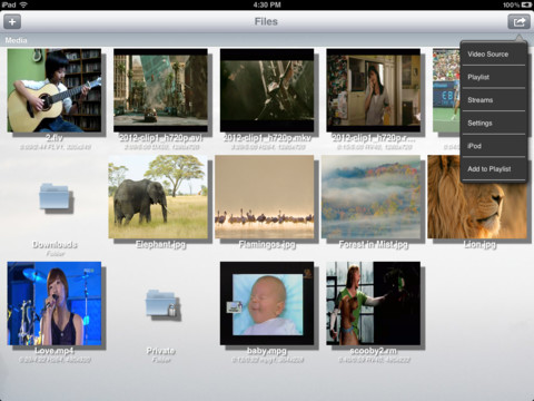 YXplayer for iPad