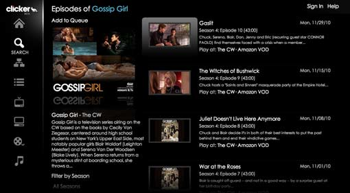Clicker TV App for iPad