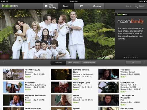 Hulu Plus iPad TV App