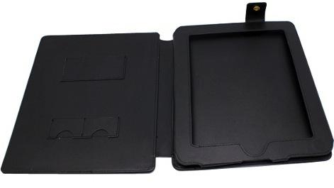 iPad Tablet PC Black Leather Case