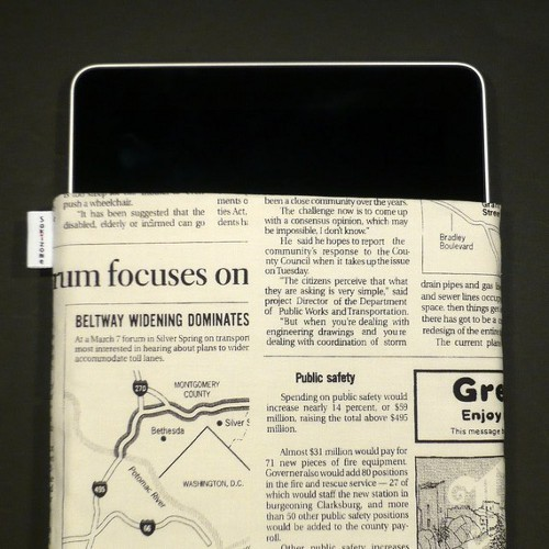 Etsy NewsPaper Case for iPad