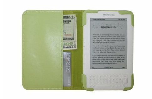 mCover Leather Folio Kindle Cover