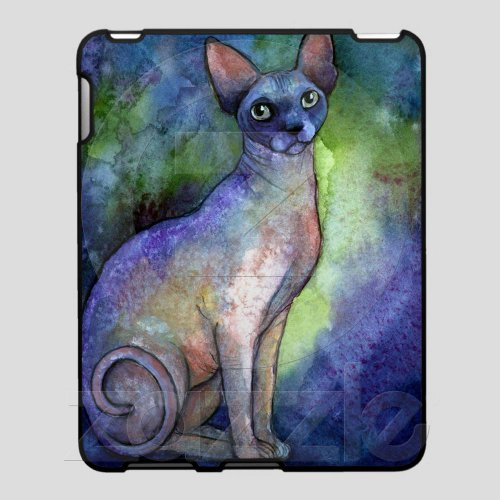 Watercolor Sphynx Sphinx Cat