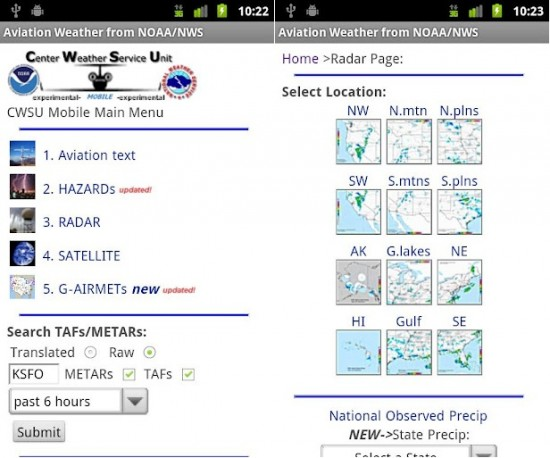 Aviation Weather from NOAANWS