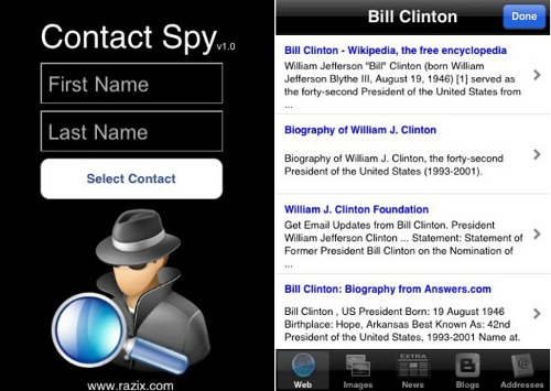 Contact Spy By Razix Software