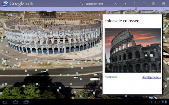 Google Earth For HoneyComb