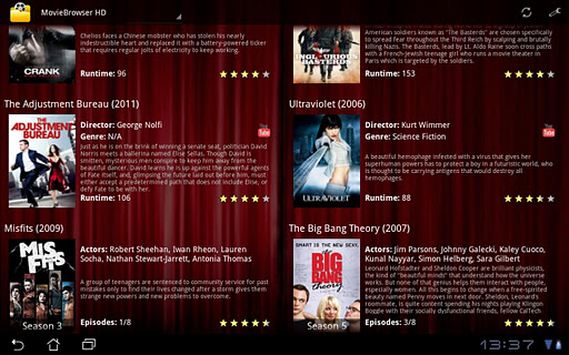 MovieBrowser HD for Tablet