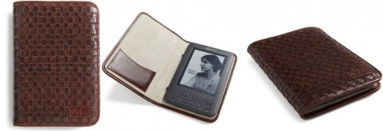 Cole Haan Hand-Woven Leather Kindle Cover
