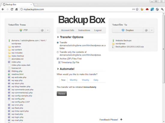 A More Efficient Way to Transfer Files from FTP to DropBox