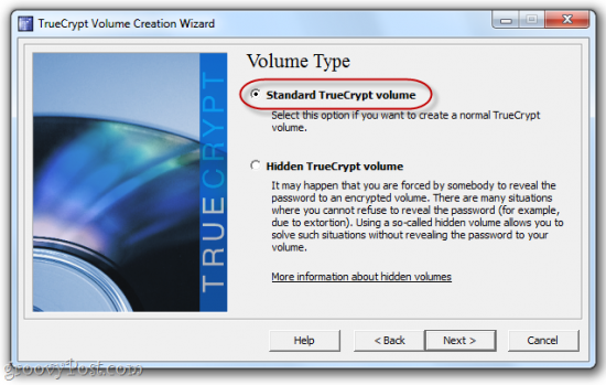Standard TrueCrypt volume