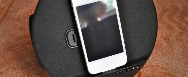 iLuv Speaker Dock Vertical Mode