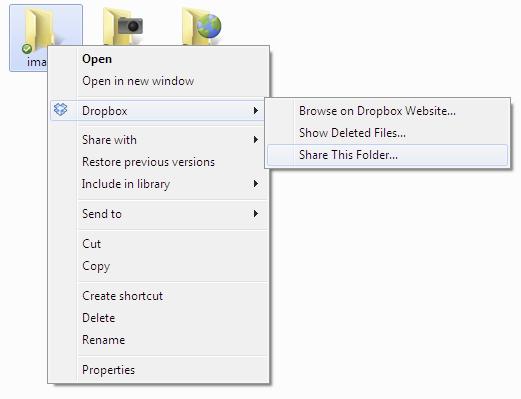 Share DropBox Folder