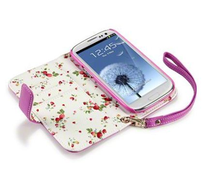 Galxy S3 PU Leather Wallet Case