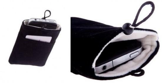 Pitch Black Micro Fiber Plush Sock Cover