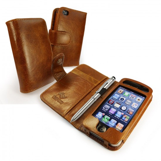 Tuff-Luv Vintage Leather Wallet-Style Case