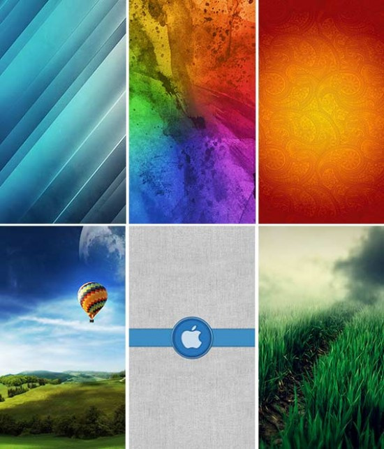 Retina wallpapers for iPhone 5