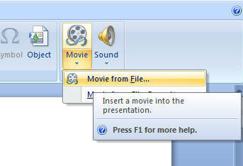 insert movie into powerpoint