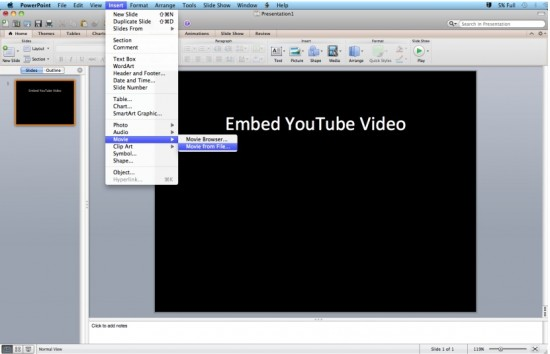 how to get youtube videos to play in powerpoint