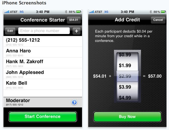 Conference Call iPhone App