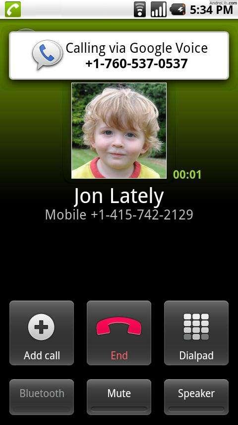 Calling Using Google Voice