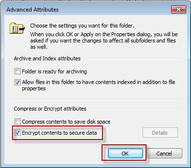 encrypt files win7