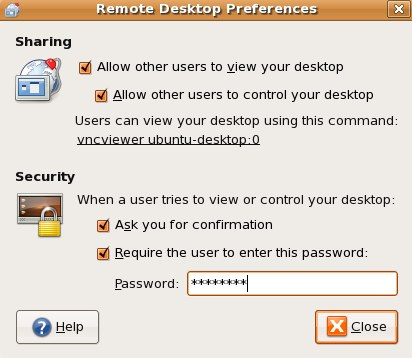 Remote Desktop Preferences