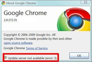 Google Chrome Update Server Not Available: How to Fix it