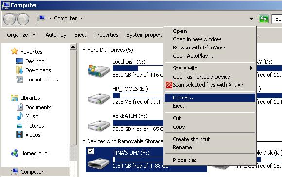 Formatting Mass Storage