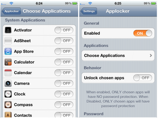 Applocker Cydia