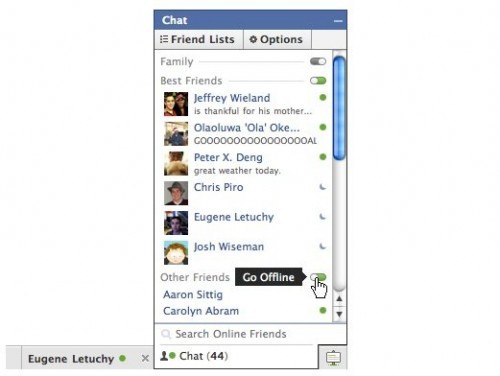 Rank Friends Facebook Chat