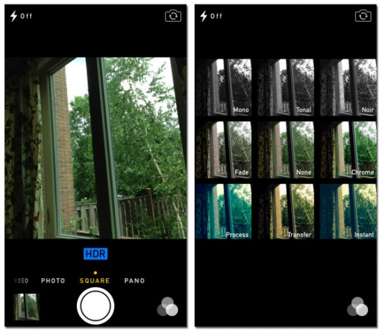 ios7 camera interface