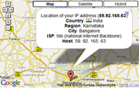 trace ip address map