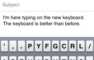Dvorak keyboard for iOS 5 lets in more symbols and space on keys