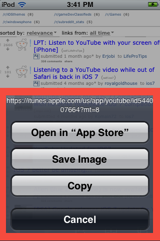 Save the reddit image to your camera roll; you will need it for iFile
