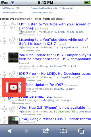 YouTube iOS 7 icon needed for iFile