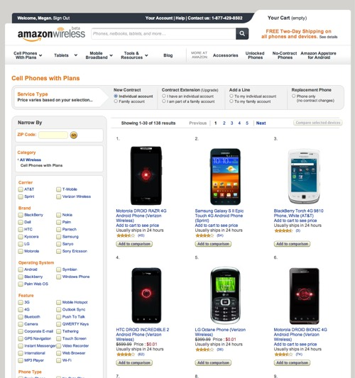 amazon.com sell smartphone
