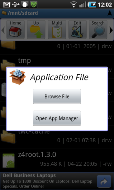 application file z4 root