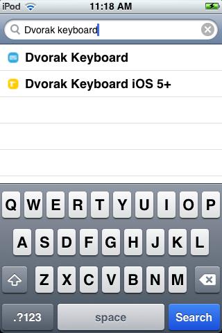 iOS 5 keyboard