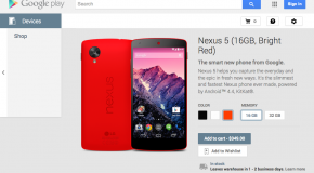 Google Play Store Greets the Nexus 5 in Bright Red