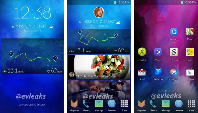 Galaxy S5 user interface UI