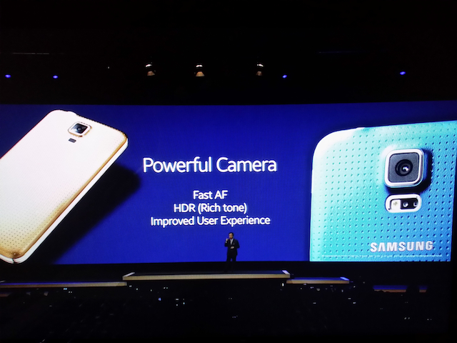 Galaxy s5 comes with an improved camera -- fast autofocus, HDR, and improved user experience