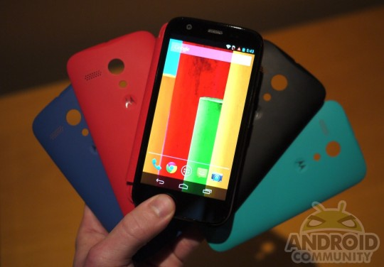 Moto G color shells