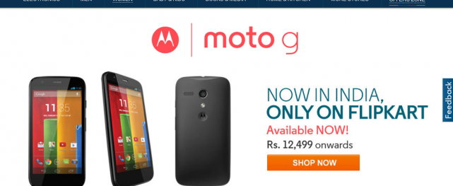 Moto G Goes Live With India Seller Flipkart, Cover Shells Discounted
