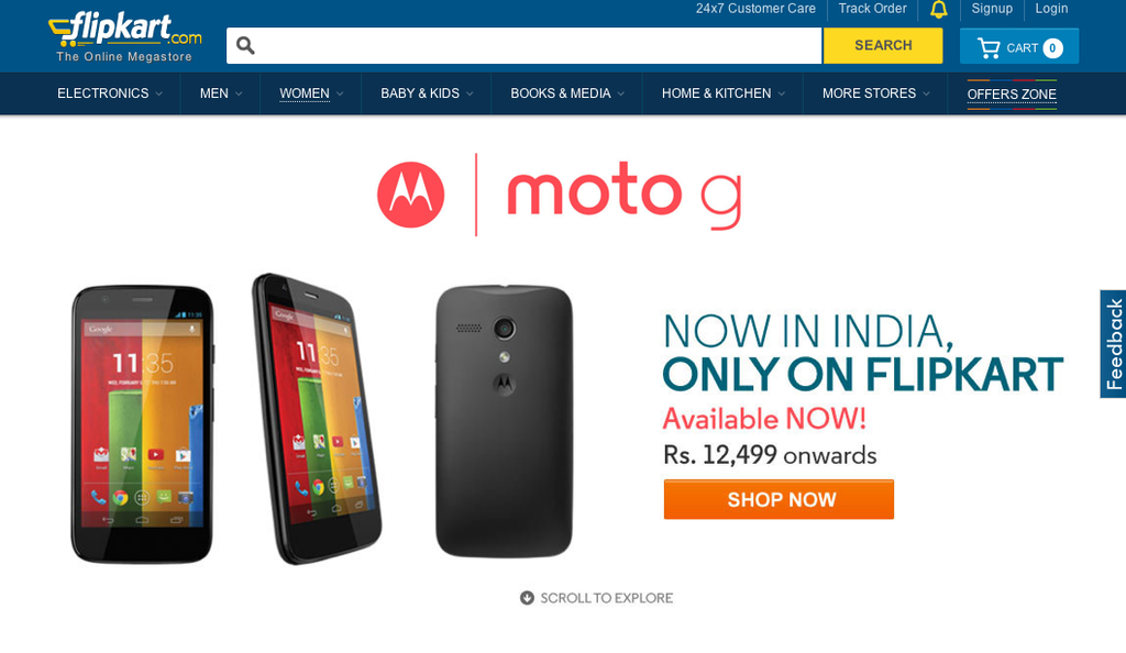 Moto G flipkart india sale