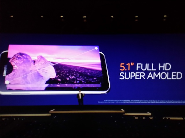galaxy s5 comes with 5.1-inch display