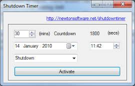 how to set auto shutdown timer in windows 7